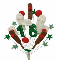 Cricket 16th birthday cake topper decoration - free postage